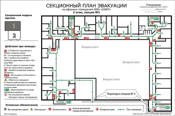 Пример плана эвакуации №3